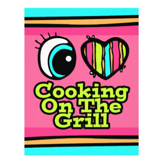 Bright Eye Heart I Love Cooking on the Grill Personalized Flyer