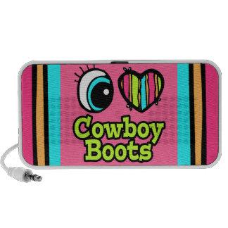 Bright Eye Heart I Love Cowboy Boots Travel Speaker
