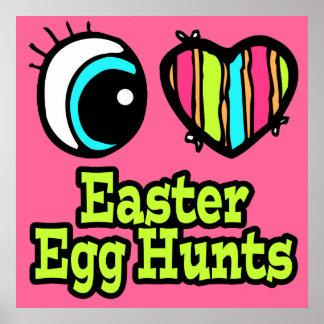 Bright Eye Heart I Love Easter Egg Hunts Print