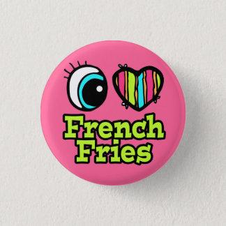 Bright Eye Heart I Love French Fries 3 Cm Round Badge