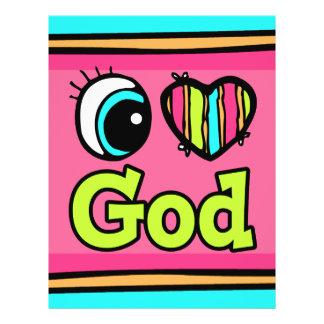 Bright Eye Heart I Love God Full Color Flyer