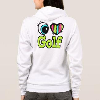 Bright Eye Heart I Love Golf Hoodie