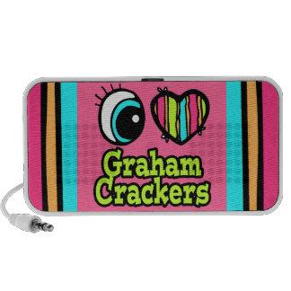 Bright Eye Heart I Love Graham Crackers Laptop Speaker