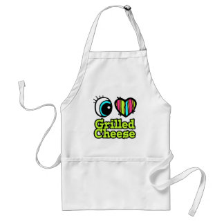 Bright Eye Heart I Love Grilled Cheese Aprons