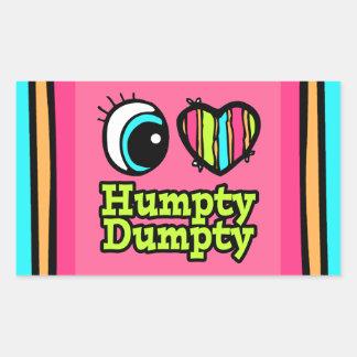 Bright Eye Heart I Love Humpty Dumpty Rectangular Sticker