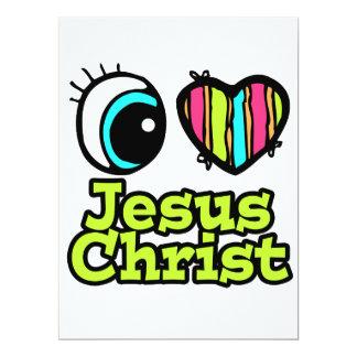 Bright Eye Heart I Love Jesus Christ Invitations