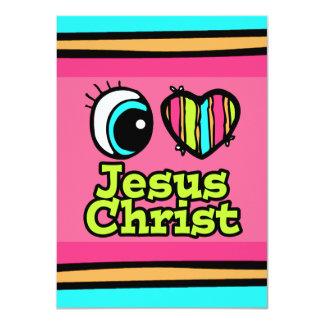 Bright Eye Heart I Love Jesus Christ Custom Invite