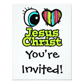 Bright Eye Heart I Love Jesus Christ Announcement