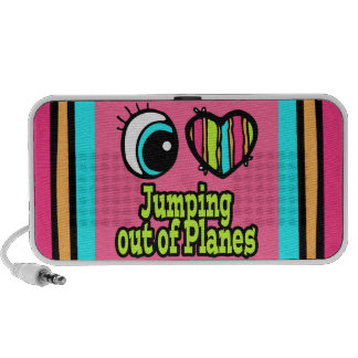 Bright Eye Heart I Love Jumping out of Planes Travel Speakers