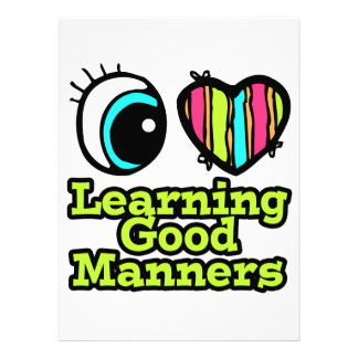 Bright Eye Heart I Love Learning Good Manners Personalized Announcement