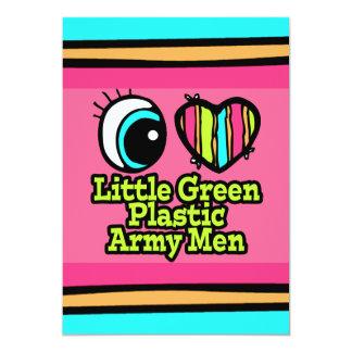 "Bright Eye Heart I Love Little Green Plastic Army 5"" X 7"" Invitation Card"