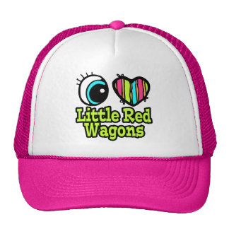 Bright Eye Heart I Love Little Red Wagons Hats