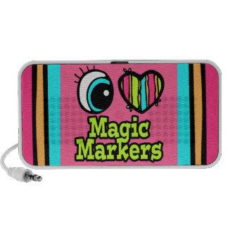 Bright Eye Heart I Love Magic Markers Speakers
