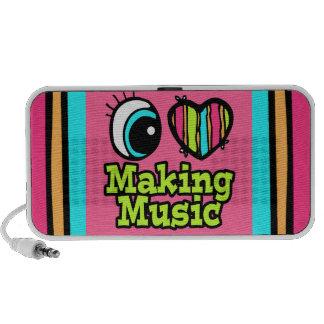 Bright Eye Heart I Love Making Music iPhone Speaker