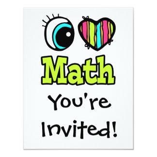 Bright Eye Heart I Love Math Card