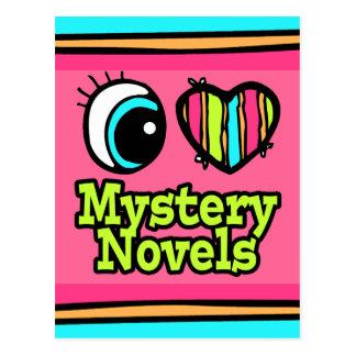 Bright Eye Heart I Love Mystery Novels Postcard