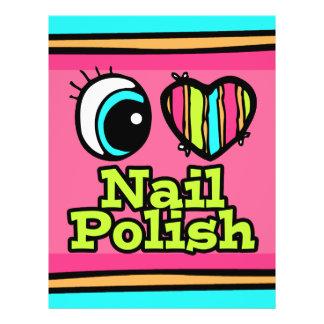 Bright Eye Heart I Love Nail Polish 21.5 Cm X 28 Cm Flyer