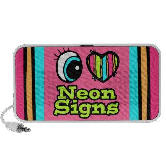 Bright Eye Heart I Love Neon Signs Mini Speakers