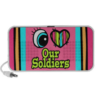 Bright Eye Heart I Love Our Soldiers iPhone Speakers