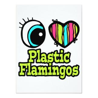 Bright Eye Heart I Love Plastic Flamingos Invite