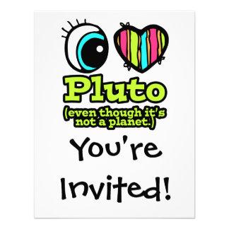 Bright Eye Heart I Love Pluto Custom Invitation