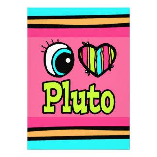 Bright Eye Heart I Love Pluto Personalized Invites