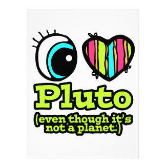 Bright Eye Heart I Love Pluto Personalized Invitation