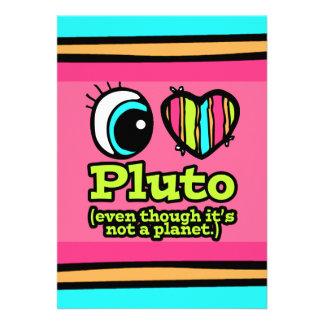 Bright Eye Heart I Love Pluto Custom Invites