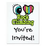 Bright Eye Heart I Love Rock Climbing 11cm X 14cm Invitation Card