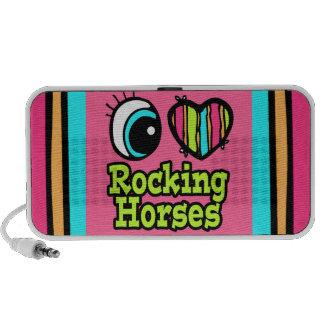 Bright Eye Heart I Love Rocking Horses Notebook Speaker