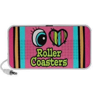 Bright Eye Heart I Love Roller Coasters Portable Speaker