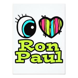 Bright Eye Heart I Love Ron Paul 17 Cm X 22 Cm Invitation Card