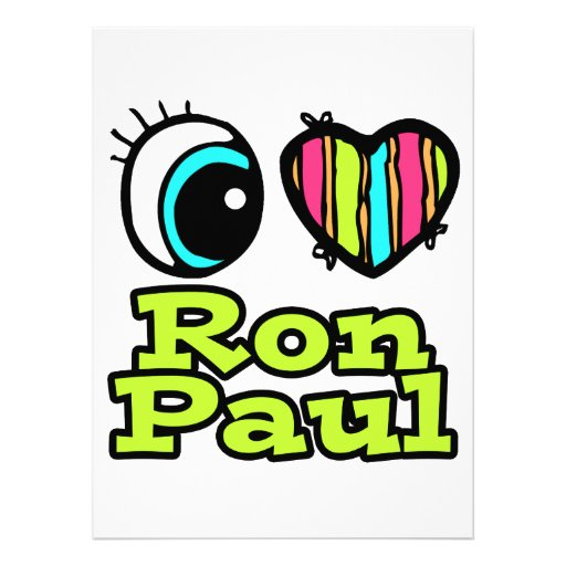 Bright Eye Heart I Love Ron Paul Custom Invite