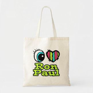 Bright Eye Heart I Love Ron Paul Budget Tote Bag