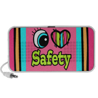 Bright Eye Heart I Love Safety iPhone Speaker