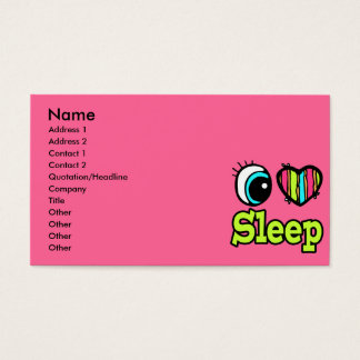 Bright Eye Heart I Love Sleep Business Card