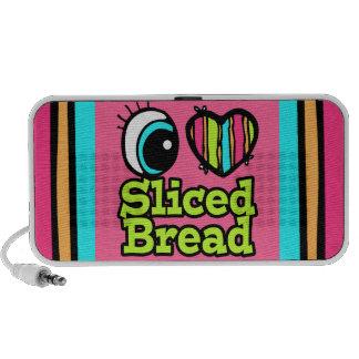 Bright Eye Heart I Love Sliced Bread Notebook Speaker