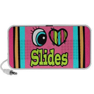 Bright Eye Heart I Love Slides iPhone Speaker
