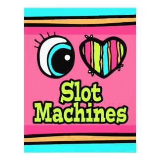 Bright Eye Heart I Love Slot Machines Custom Flyer