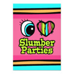 Bright Eye Heart I Love Slumber Parties Invitation