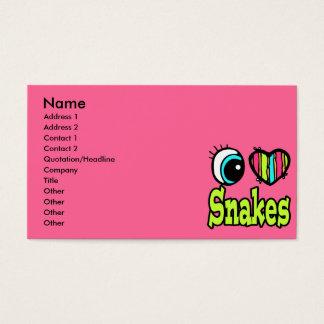 Bright Eye Heart I Love Snakes Business Card