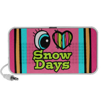 Bright Eye Heart I Love Snow Days Mp3 Speakers
