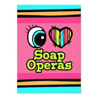 Bright Eye Heart I Love Soap Operas 11 Cm X 16 Cm Invitation Card