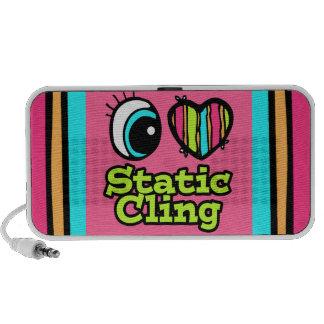 Bright Eye Heart I Love Static Cling iPhone Speakers