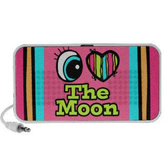 Bright Eye Heart I Love The Moon Laptop Speakers
