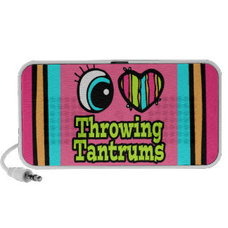 Bright Eye Heart I Love Throwing Tantrums Portable Speakers