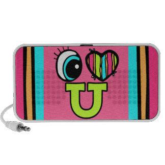 Bright Eye Heart I Love U You iPhone Speaker