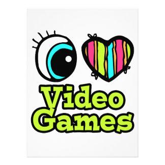 Bright Eye Heart I Love Video Games Personalized Invite