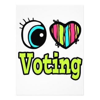 Bright Eye Heart I Love Voting Invite