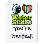 Bright Eye Heart I Love Water Slides 11 Cm X 14 Cm Invitation Card